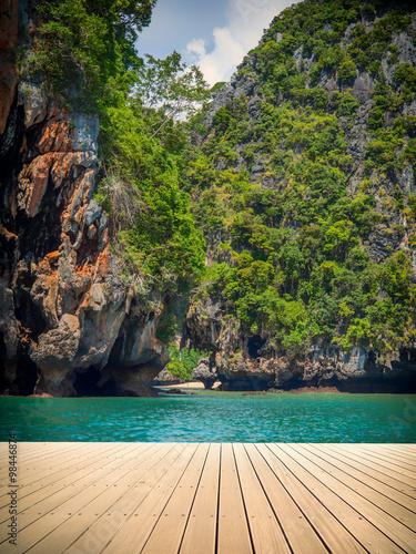 Tropical beach in Krabi Thailand #98446874