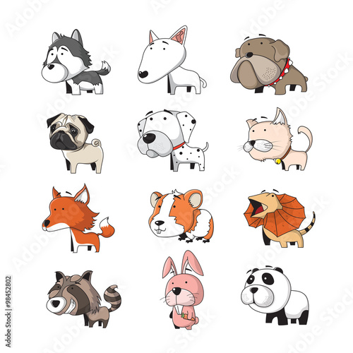 plakat animal set 2