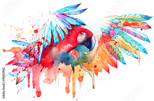 Recess Fitting Paintings parrot