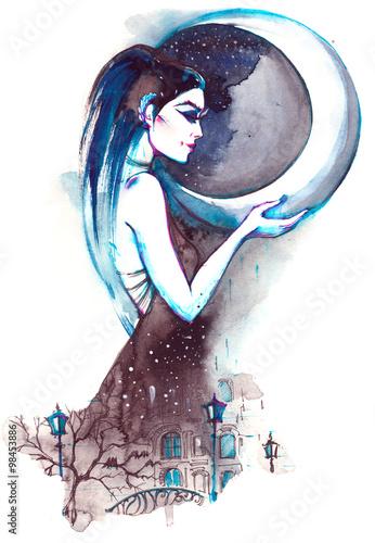 Fotografie, Obraz  goddess of  night