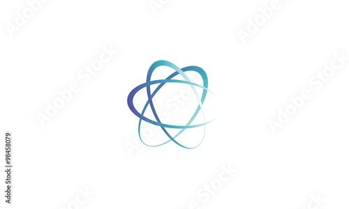 abstract circle company logo Canvas Print