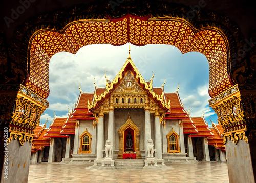 In de dag Bangkok The Marble Temple, Wat Benchamabopitr Dusitvanaram Bangkok THAIL