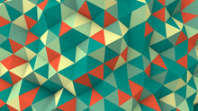 Geometric 3D Render Polygonal Surface