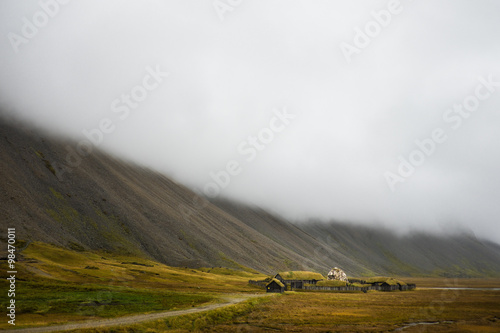 Photo  Traditional viking skyfall village