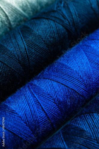 Fotografie, Obraz  Blautöne Modedesign