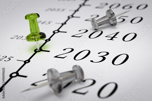 Fotografia  21th century time line, Year 2030