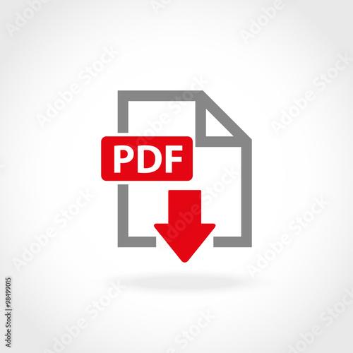 Fotografía  Vector PDF icon set