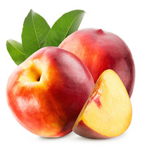 Tasty Nectarines Isolated On T...