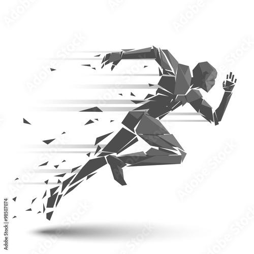 Foto  Geometrischer laufender Mann
