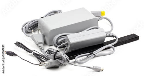 Photo  Wii cable on a white background!