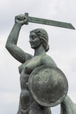 The Warsaw Mermaid called Syrenka on the Vistula River bank in W - 98510008