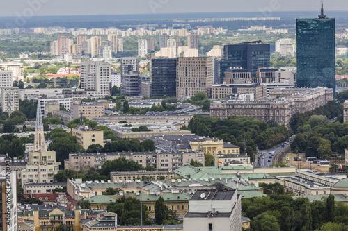 warszawa-polska-09-lipca-2015-r-widok-z-obserwacji