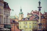 Old town in Warsaw, Poland. The Royal Castle and Sigismund's Col - 98516032