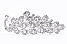 Hairpin With Diamonds On A Whi...