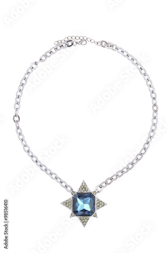 Fotografering  Pendant with star isolated on white