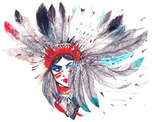Naklejka American Indian