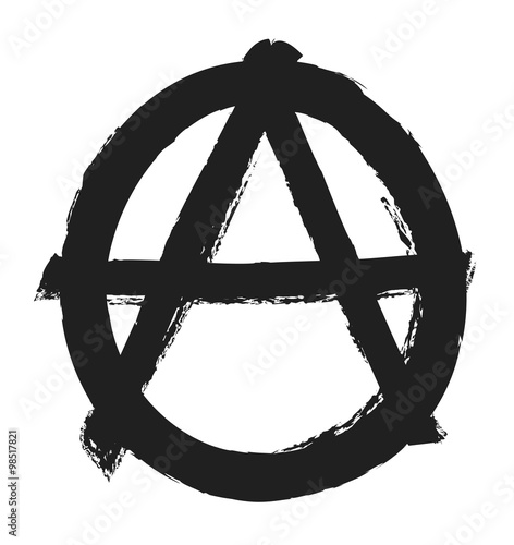 Fotografie, Obraz  grunge anarchy symbol,  design element