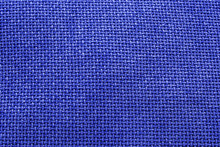 Blue Woven Material / Textile Background Texture - Large File.