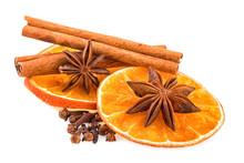 Orange Slices Cinnnamon Sticks Anise
