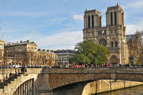 Fotografia  Parigi, la Senna a Notre Dame