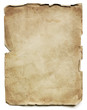 canvas print picture - Old Paper Sheet Isolated