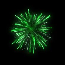 Green Firework On Black Background
