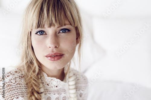 Fotografie, Obraz  Stunning young blond woman, portrait