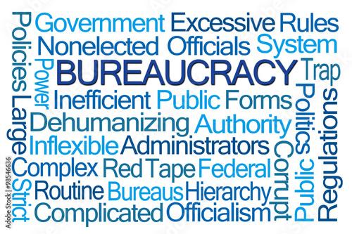 Fotografía  Bureaucracy Word Cloud