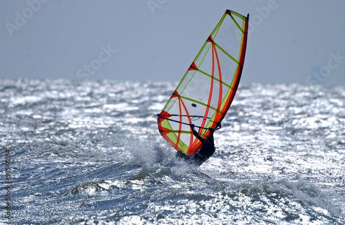 fototapeta na lodówkę windsurfer Nordsee