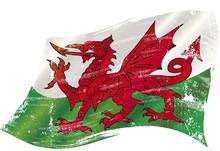 Welsh Grunge Waving Flag