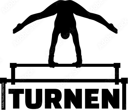german word for gymnastics with uneven bars buy this stock vector