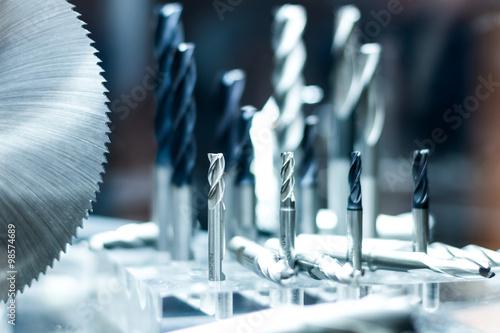 Fotografie, Obraz  Milling and drilling cutter tools