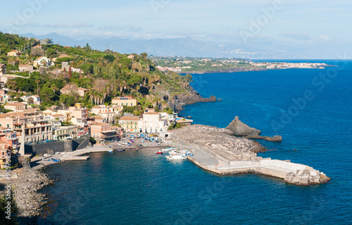 The small sea village of Santa Maria la Scala (near Catania) in Sicily Wallpaper Mural