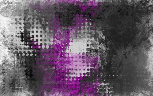 Obraz premium Streszczenie tło grunge z szary, biały i fioletowy