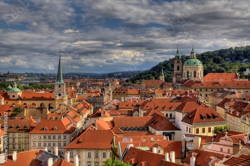 Wall Murals Prague Panoram of Historic city of Pargue in Czech Republic