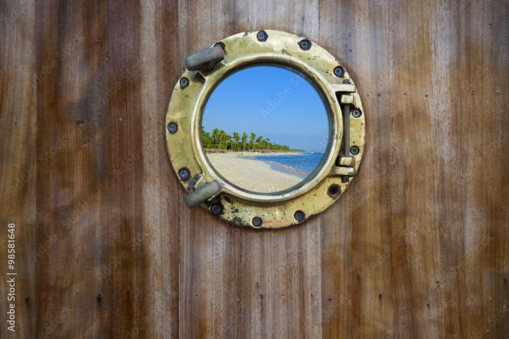 Fototapety, obrazy: bulls eye xxl on wooden planks