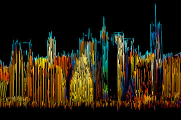 Panel Szklany Nowy York Abstract Manhattan