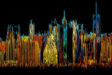 FototapetaAbstract Manhattan