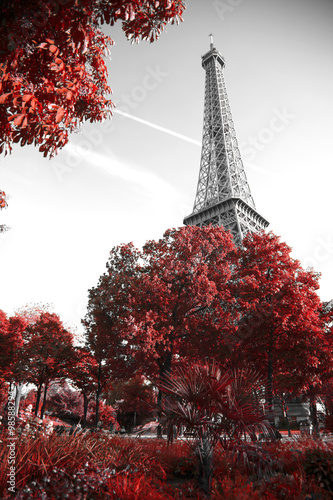 Staande foto Parijs infrared photography Eiffel Tower