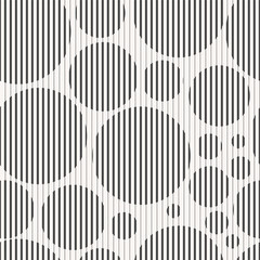 Panel Szklany Ornamenty Abstract seamless geometric pattern - striped circles