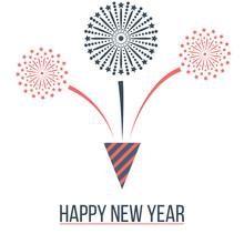 Fireworks Design Happy New Year