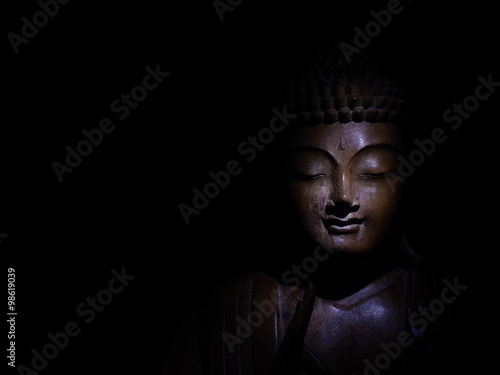 Tuinposter Boeddha Buddha Face Low Key