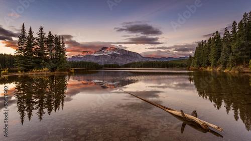 Two Jack Lake at sunset, Banff National Park, Alberta, Canada