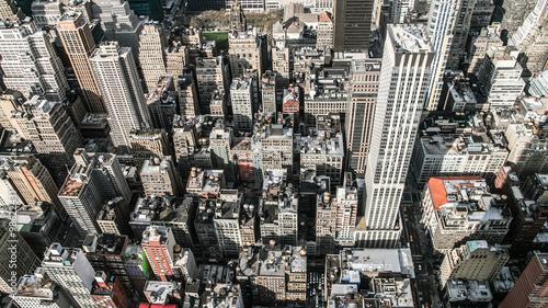 Aerial view of Manhattan, New York, America, USA