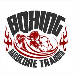 Fototapeta Boks Boxing Print Vector