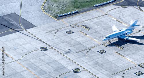 Zdjęcie XXL Mały samolot przygotowuje się do startu