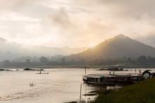 Misty Morning On The Khong Riv...