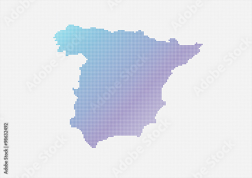 Small Map Of Spain.Spain Map Vector Small Dots Objects Buy This Stock Vector And
