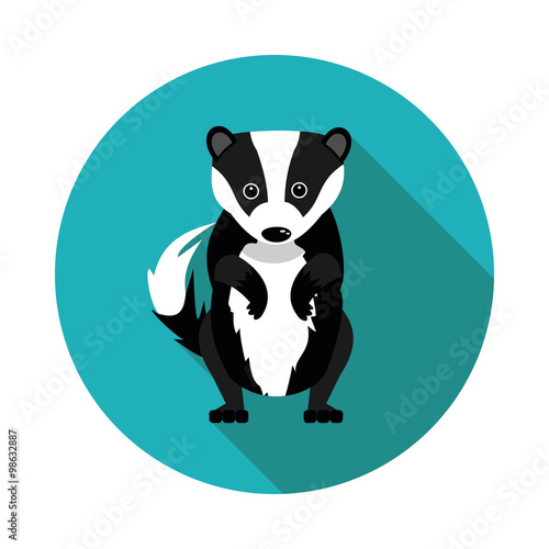 Canvas Print flat  icons badger