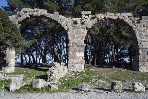 Foto op Aluminium Rudnes The ruins of the ancient city of Phaselis. Turkey.